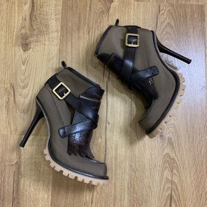 Tory Burch Lyle Booties Olive Green